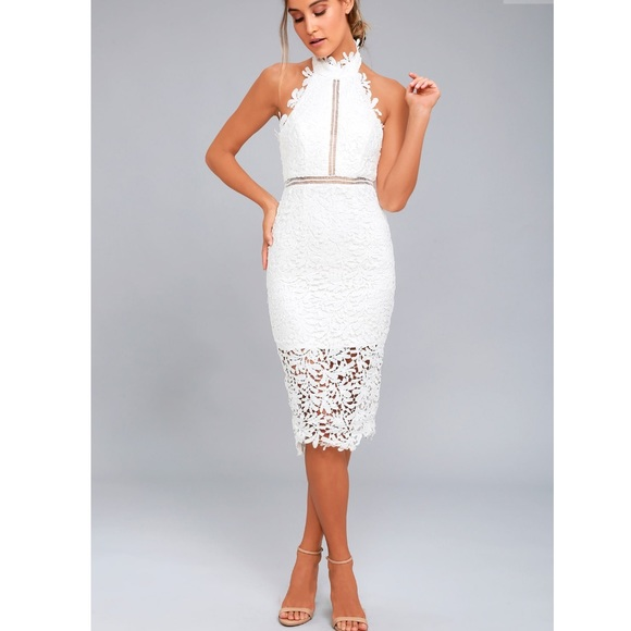 Lulus White Lace Dress Nwt